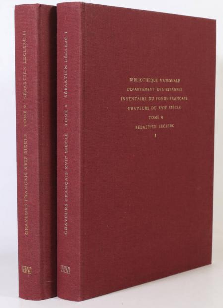 PREAUD (Maxime). Inventaire du fonds français. Graveurs du XVIIe siècle. Sébastien Leclerc, livre rare du XXe siècle