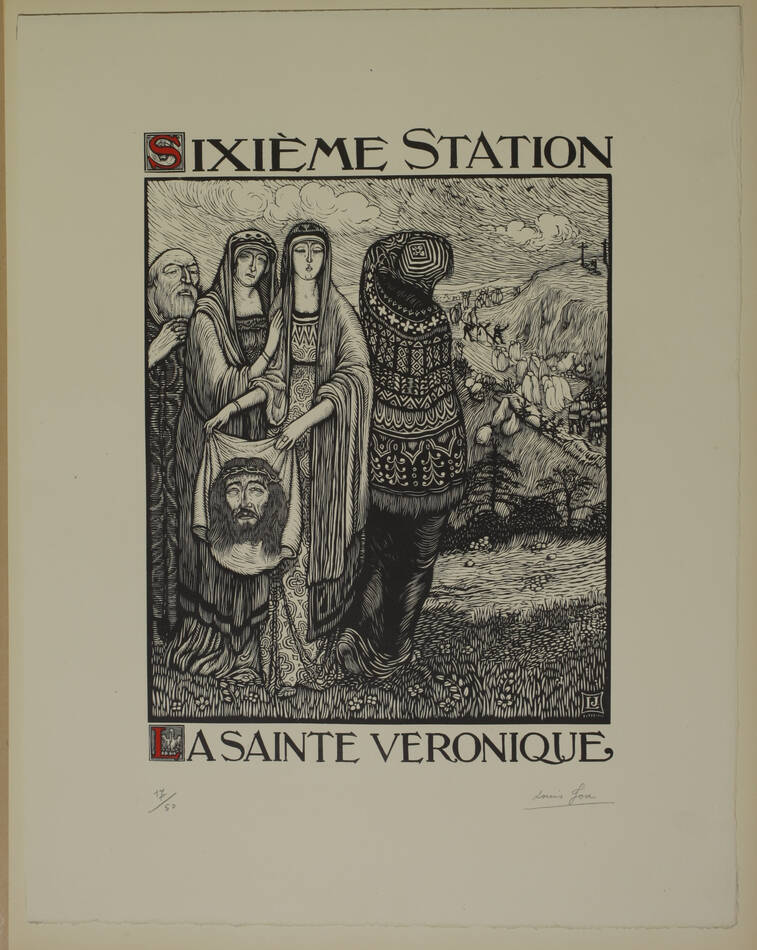 JOU - Le Chemin de la Croix 1915-1916 - 15 planches - bois gravés - Grand format - Photo 1, livre rare du XXe siècle