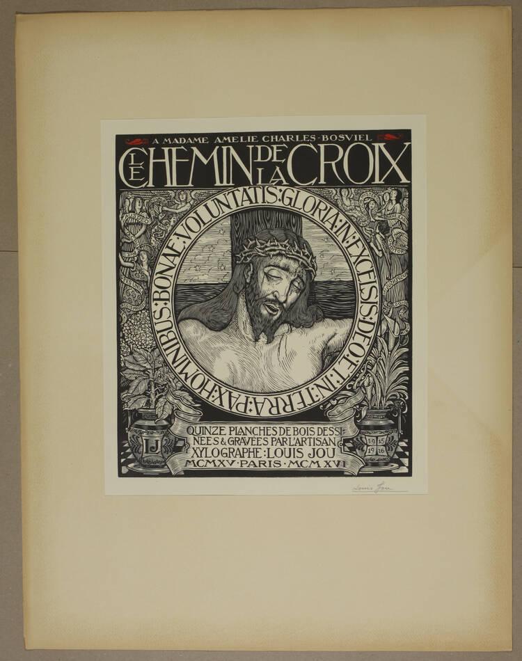 JOU - Le Chemin de la Croix 1915-1916 - 15 planches - bois gravés - Grand format - Photo 2, livre rare du XXe siècle