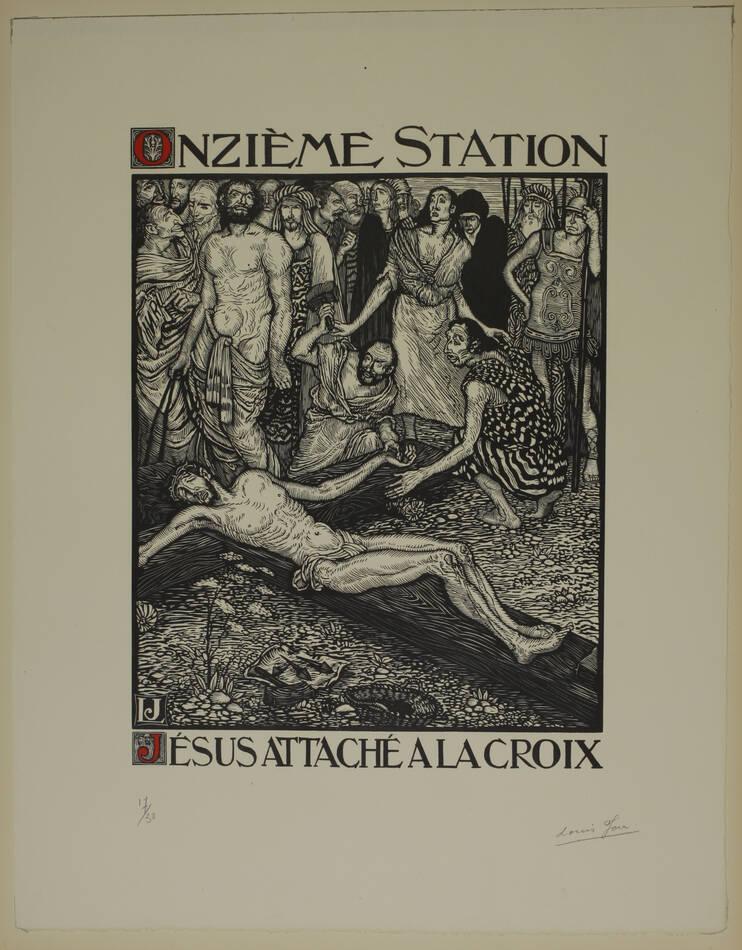 JOU - Le Chemin de la Croix 1915-1916 - 15 planches - bois gravés - Grand format - Photo 7, livre rare du XXe siècle