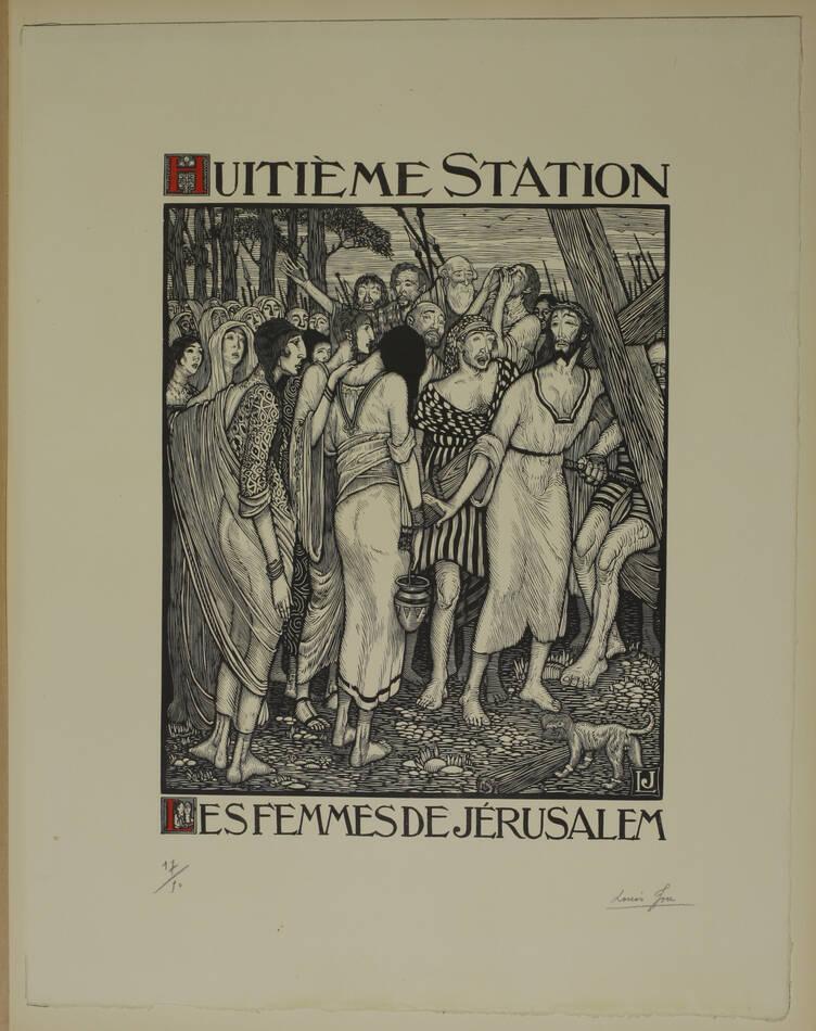 JOU - Le Chemin de la Croix 1915-1916 - 15 planches - bois gravés - Grand format - Photo 8, livre rare du XXe siècle