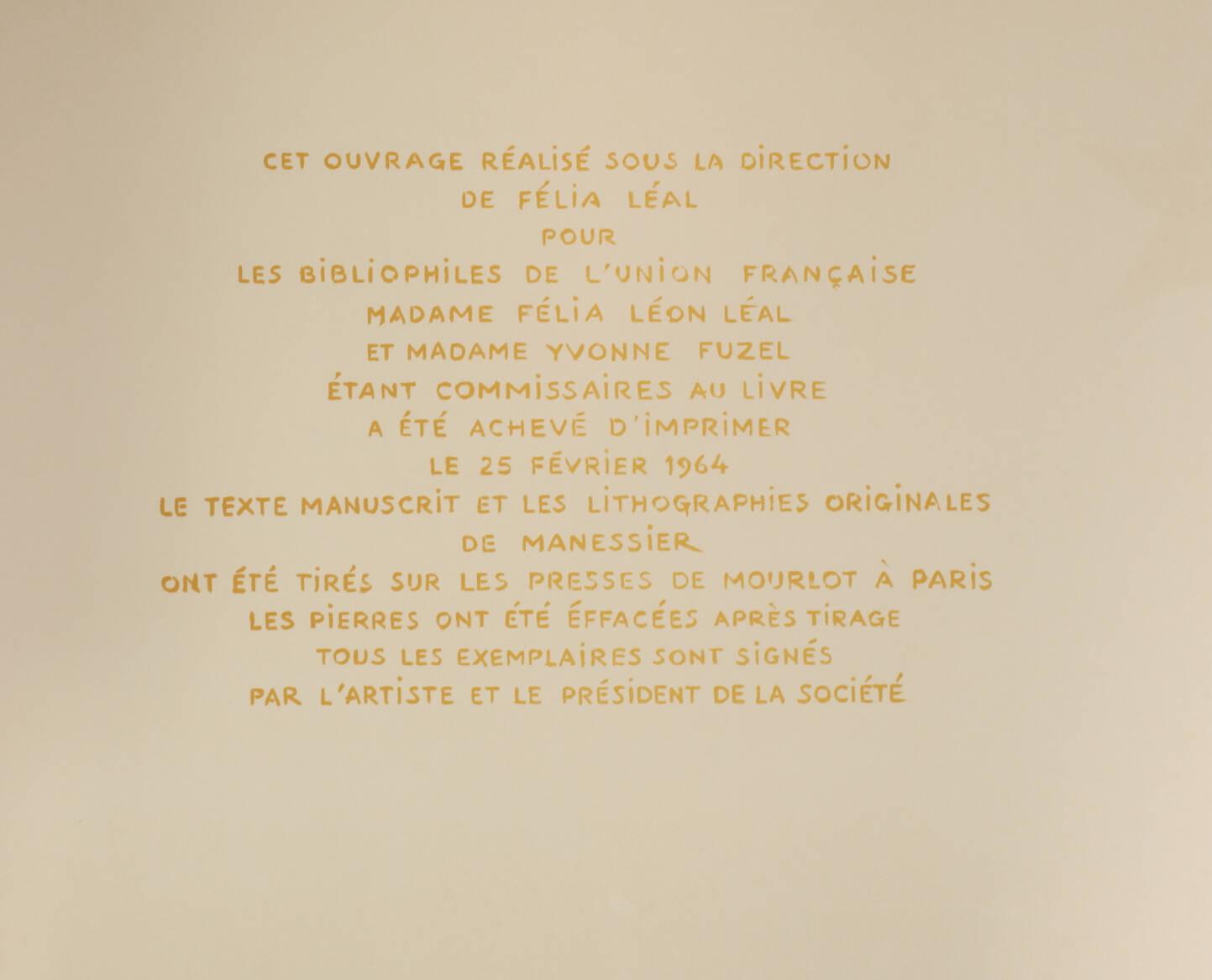 PEGUY Présentation de la Beauce à N-D de Chartres 1964 Alfred Manessier - Signé - Photo 15, livre rare du XXe siècle