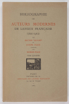 TALVART (Hector) et PLACE (Joseph). Bibliographie des auteurs modernes de langue française (1801-1962). Tome XV : MICHAUX (Henri) à MIRBEAU (Octave)