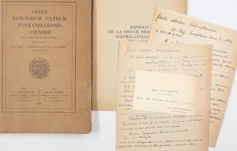 Gesta Sanctorum Patrum Fontanellensis Coenobii - Rouen, Lestringant 1936 - Photo 0, livre rare du XXe siècle