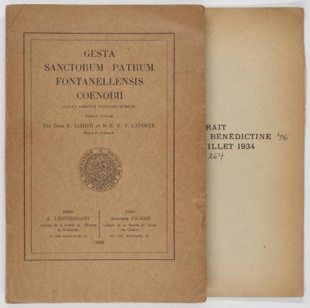Gesta Sanctorum Patrum Fontanellensis Coenobii - Rouen, Lestringant 1936 - Photo 1, livre rare du XXe siècle