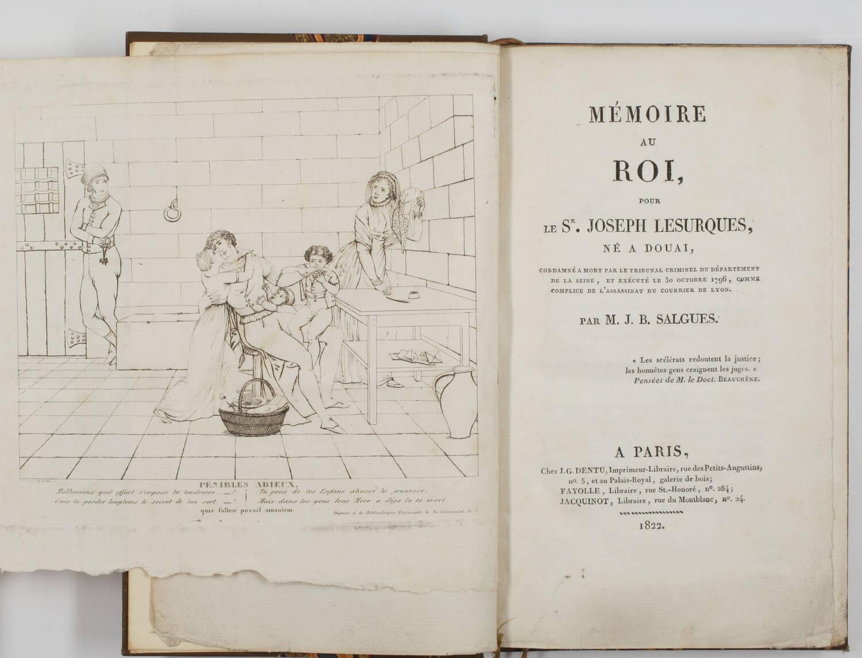 [Courrier de Lyon] SALGUES Mémoire pour Joseph Lesurques exucuté en 1796 - 1822 - Photo 0, livre rare du XIXe siècle