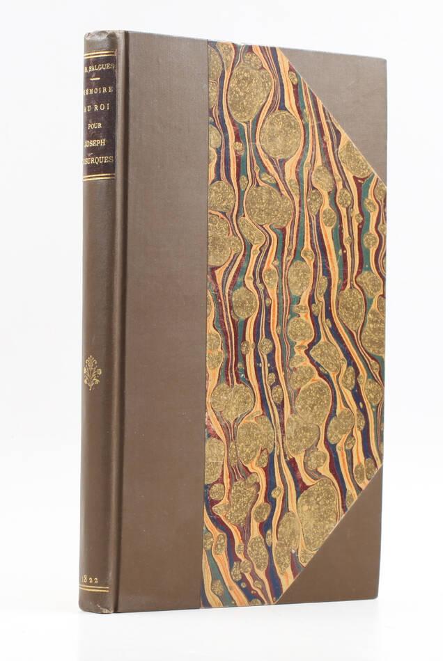 [Courrier de Lyon] SALGUES Mémoire pour Joseph Lesurques exucuté en 1796 - 1822 - Photo 1, livre rare du XIXe siècle