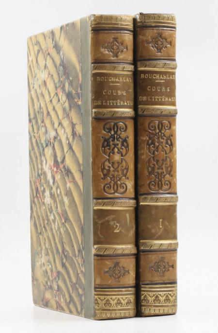 BOUCHARLAT (J.-L.). Cours de littérature faisant suite au Lycée de La Harpe, livre rare du XIXe siècle