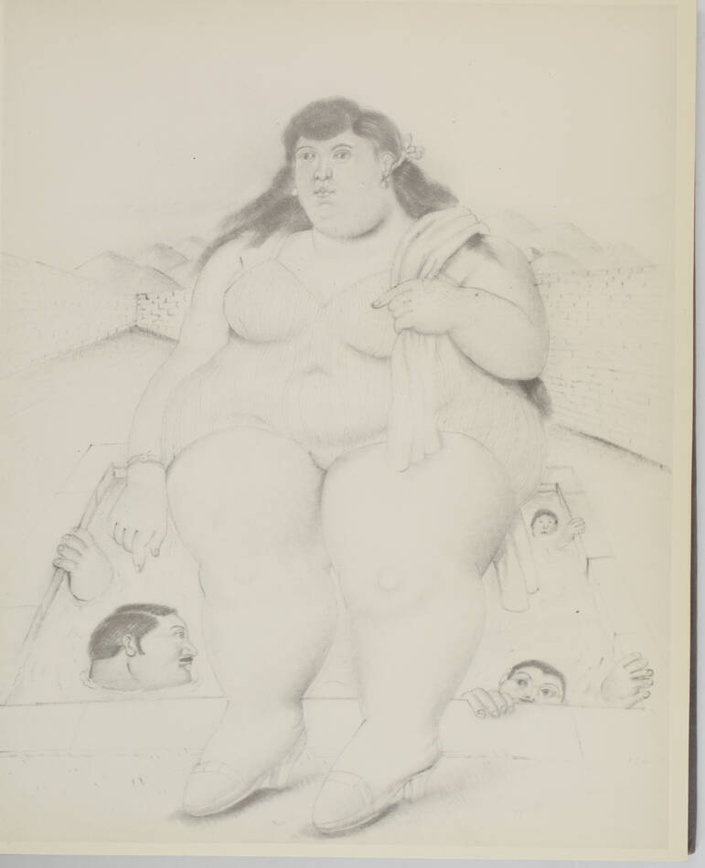 Vargas Llosa - Botero - Dessins et aquarelles - 1984 - Photo 2, livre rare du XXe siècle