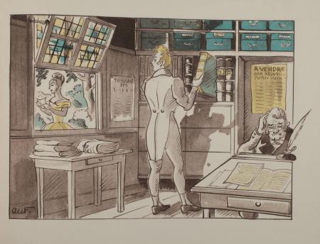 LEFEBVRE (Alfred). Confrères de jadis et de naguère. Texte et illustrations d'Alfred Lefebvre, notaire à Rubempré., livre rare du XXe siècle