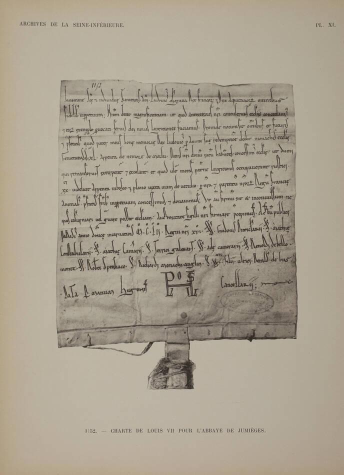 [Paléographie] CHEVREUX - Ecritures du XIe au XVIIIe siècle - Normandie - 1911 - Photo 0, livre rare du XXe siècle