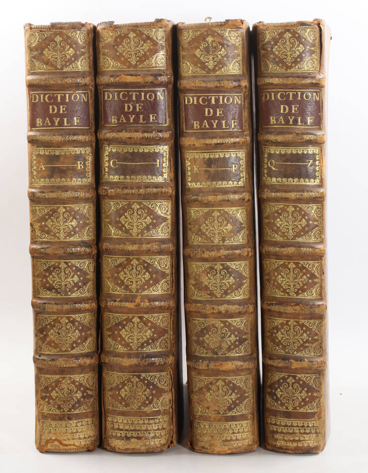BAYLE - Dictionnaire historique et critique -  1741 - 4 volumes in-folio - Photo 0, livre ancien du XVIIIe siècle