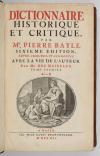 BAYLE - Dictionnaire historique et critique -  1741 - 4 volumes in-folio - Photo 1, livre ancien du XVIIIe siècle