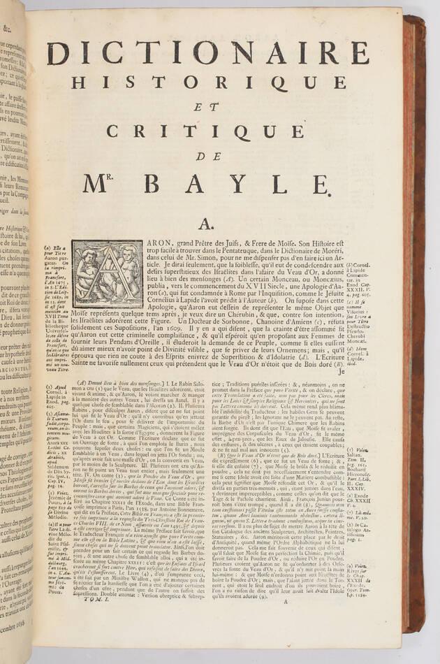 BAYLE - Dictionnaire historique et critique -  1741 - 4 volumes in-folio - Photo 6, livre ancien du XVIIIe siècle