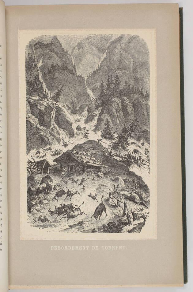 TSCHUDI - Le monde des Alpes - Description pittoresque -1870 - Gravures - Photo 2, livre rare du XIXe siècle