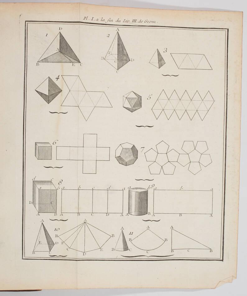 RIVARD - Elémens de mathématiques - 1752 - in-4 - 13 planches - Photo 3, livre ancien du XVIIIe siècle