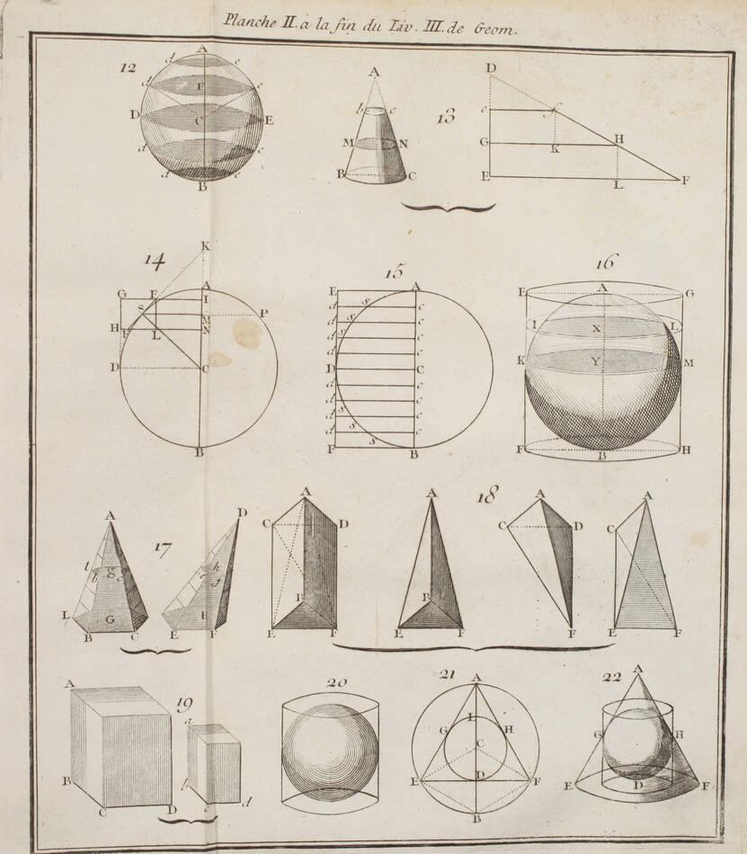 RIVARD - Elémens de mathématiques - 1752 - in-4 - 13 planches - Photo 4, livre ancien du XVIIIe siècle