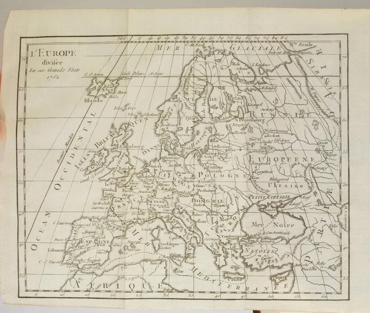 VOSGIEN - Dictionnaire géographique - 1762 - Mappemonde et carte - Photo 3, livre ancien du XVIIIe siècle