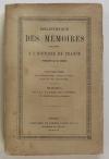 LESCURE (M. de). Mémoires sur la guerre de la Vendée et l'expédition de Quiberon