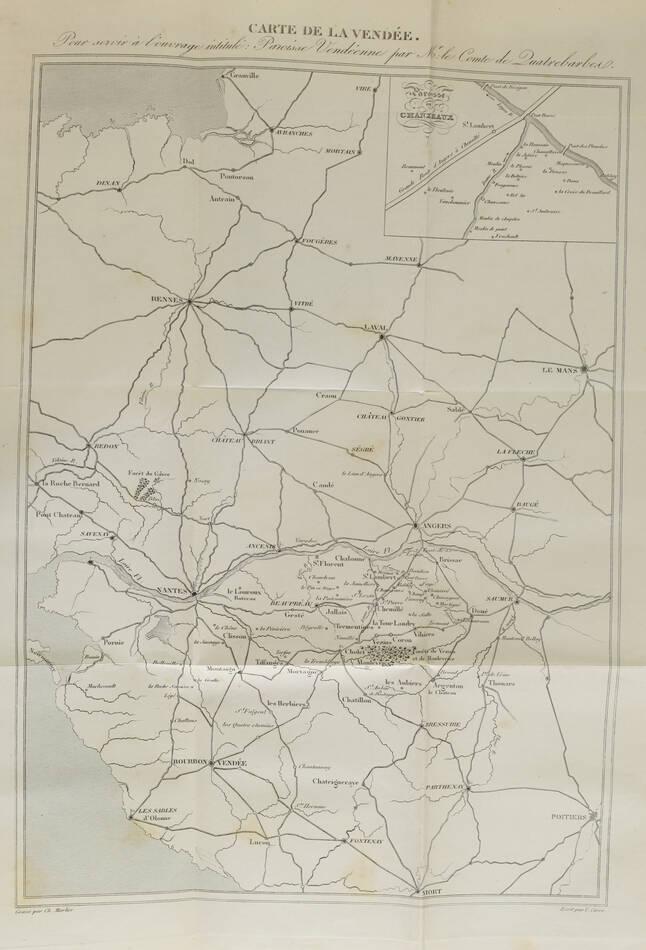 [Chanzeaux] QUATREBARBES - Une paroisse vendéenne sous la terreur - 1870 - Photo 2, livre rare du XIXe siècle