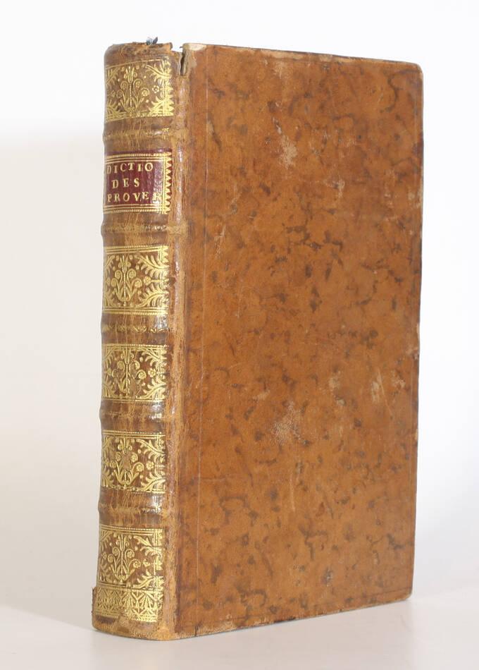 Panckoucke - Dictionnaire des proverbes et des façons de parler comiques -  1748 - Photo 0, livre ancien du XVIIIe siècle