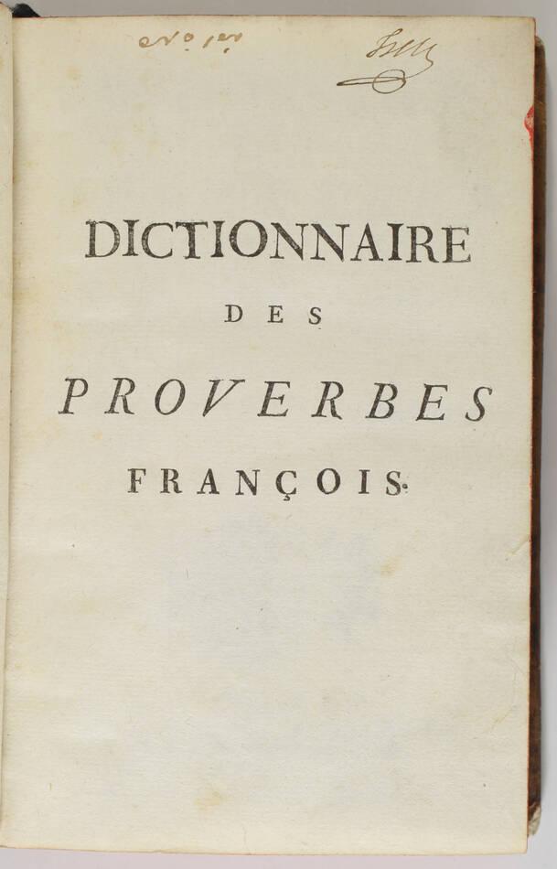 Panckoucke - Dictionnaire des proverbes et des façons de parler comiques -  1748 - Photo 2, livre ancien du XVIIIe siècle