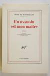 MONTHERLANT - Un assassin est mon maître - 1971 - EO - 1/238 Lafuma-Navarre - Photo 1, livre rare du XXe siècle