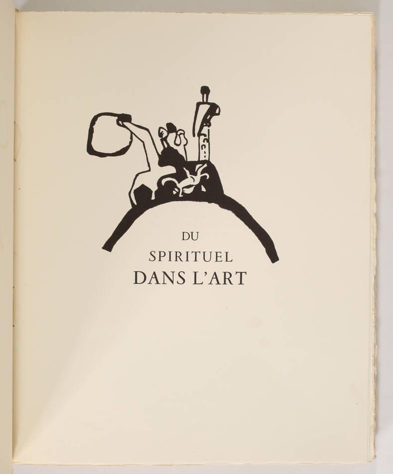 KANDINSKY - Du spirituel dans l art - 1949 - Grand bois gravé en couleurs - Photo 1, livre rare du XXe siècle