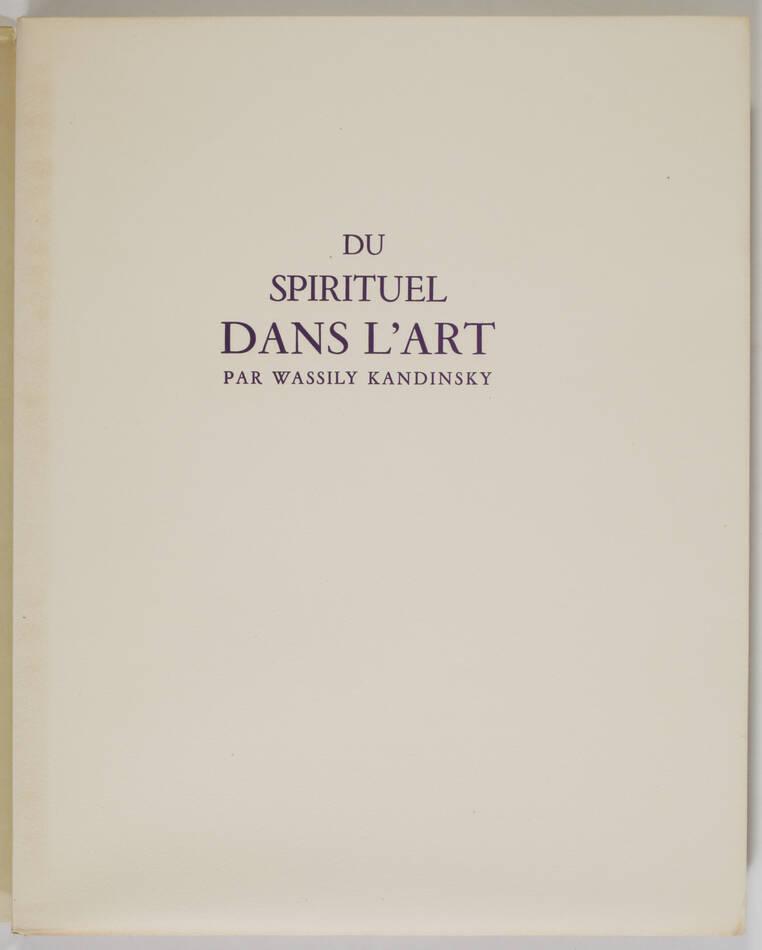 KANDINSKY - Du spirituel dans l art - 1949 - Grand bois gravé en couleurs - Photo 3, livre rare du XXe siècle