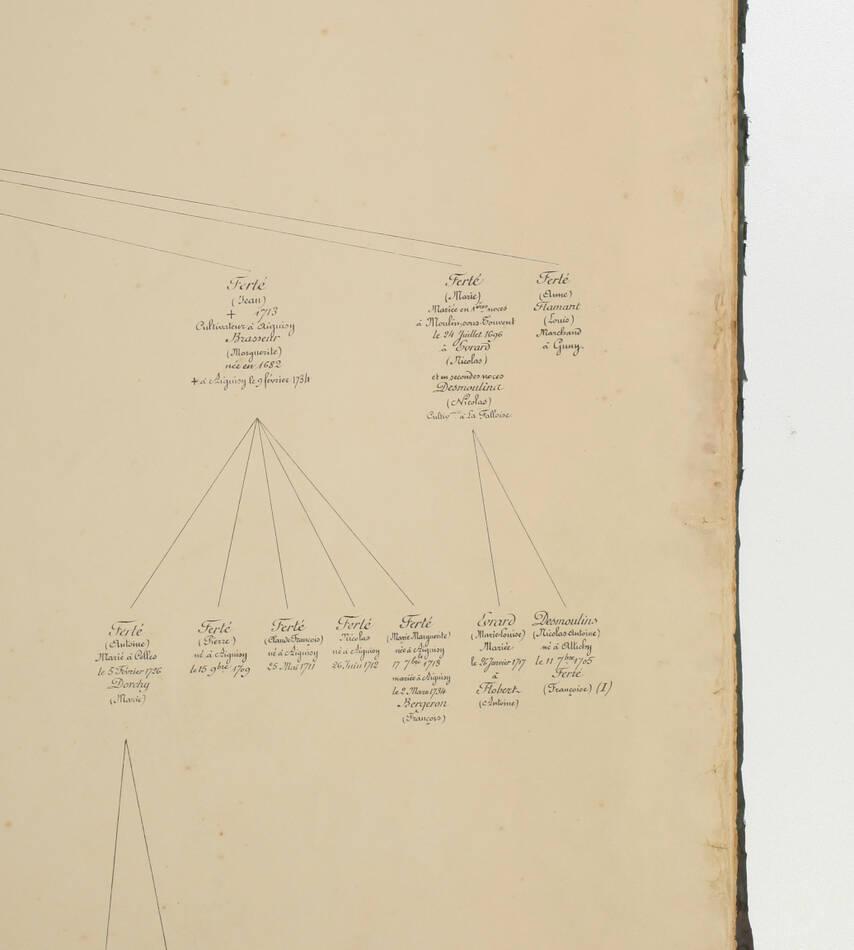 [Picardie] Généalogie de la famille Ferté - (Vers 1896-1900) - Aisne - Photo 6, livre rare du XIXe siècle