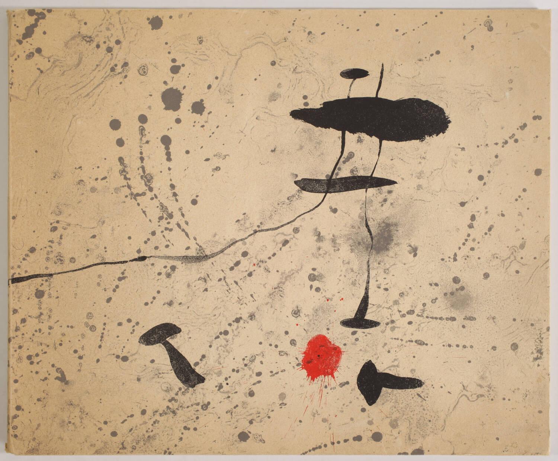 MIRO -  Tracé sur l eau - Suite d aquarelles - 1963 - Couverture lithographiée - Photo 0, livre rare du XXe siècle