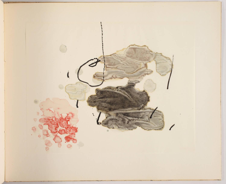 MIRO -  Tracé sur l eau - Suite d aquarelles - 1963 - Couverture lithographiée - Photo 4, livre rare du XXe siècle