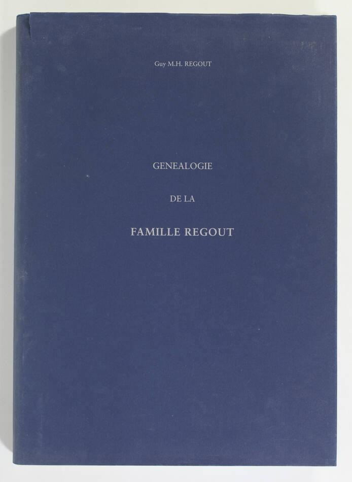 REGOUT - Généalogie de la famille Regout - 1996 - Photo 0, livre rare du XXe siècle