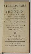 Les ruses de guerre de Polyen + Frontin - 1770 - 3 volumes - Lobineau et Perrot - Photo 2, livre ancien du XVIIIe siècle