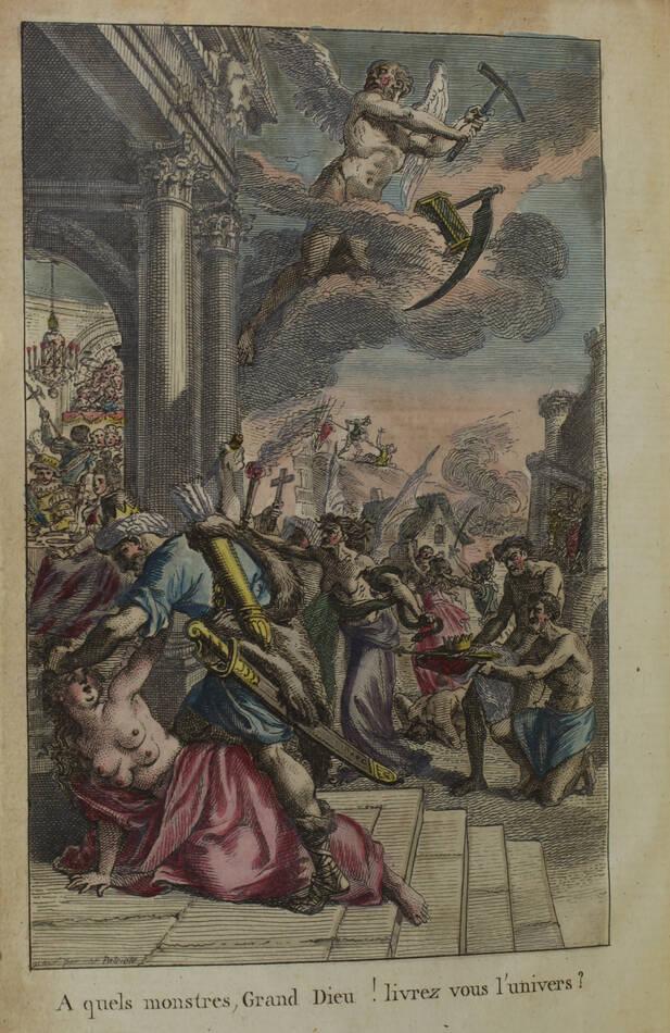 La Vicomterie - Crimes des rois de France - 1791 - Frontispice en couleurs - Photo 0, livre ancien du XVIIIe siècle