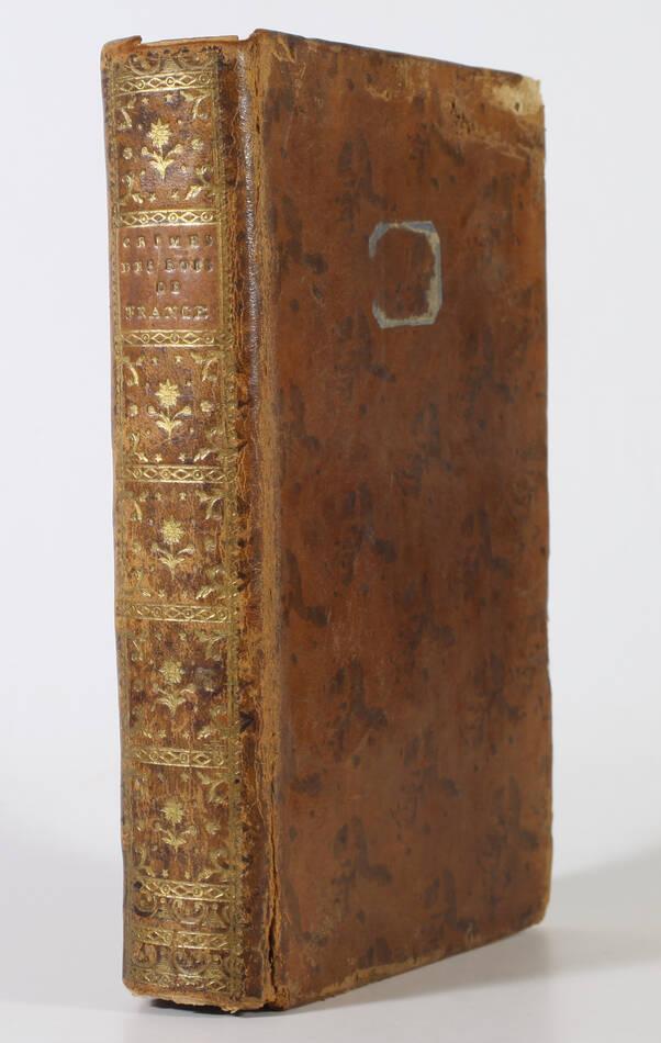 La Vicomterie - Crimes des rois de France - 1791 - Frontispice en couleurs - Photo 1, livre ancien du XVIIIe siècle