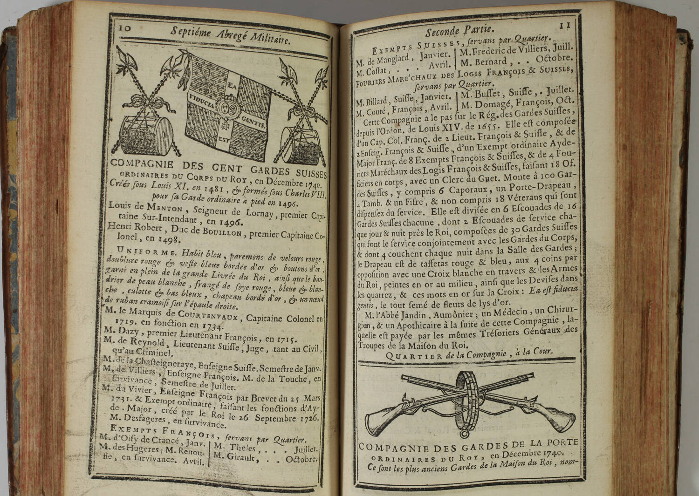 LEMAU de la JAISSE - 7e abrégé de la carte générale du militaire de France 1741 - Photo 0, livre ancien du XVIIIe siècle