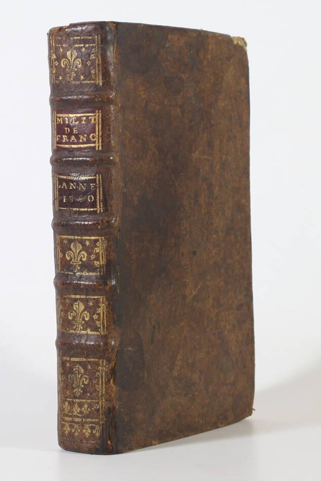 LEMAU de la JAISSE - 7e abrégé de la carte générale du militaire de France 1741 - Photo 1, livre ancien du XVIIIe siècle
