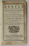 LEMAU de la JAISSE - 7e abrégé de la carte générale du militaire de France 1741 - Photo 2, livre ancien du XVIIIe siècle