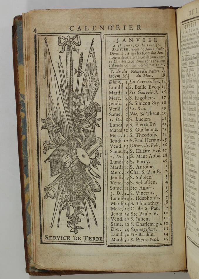 LEMAU de la JAISSE - 7e abrégé de la carte générale du militaire de France 1741 - Photo 3, livre ancien du XVIIIe siècle