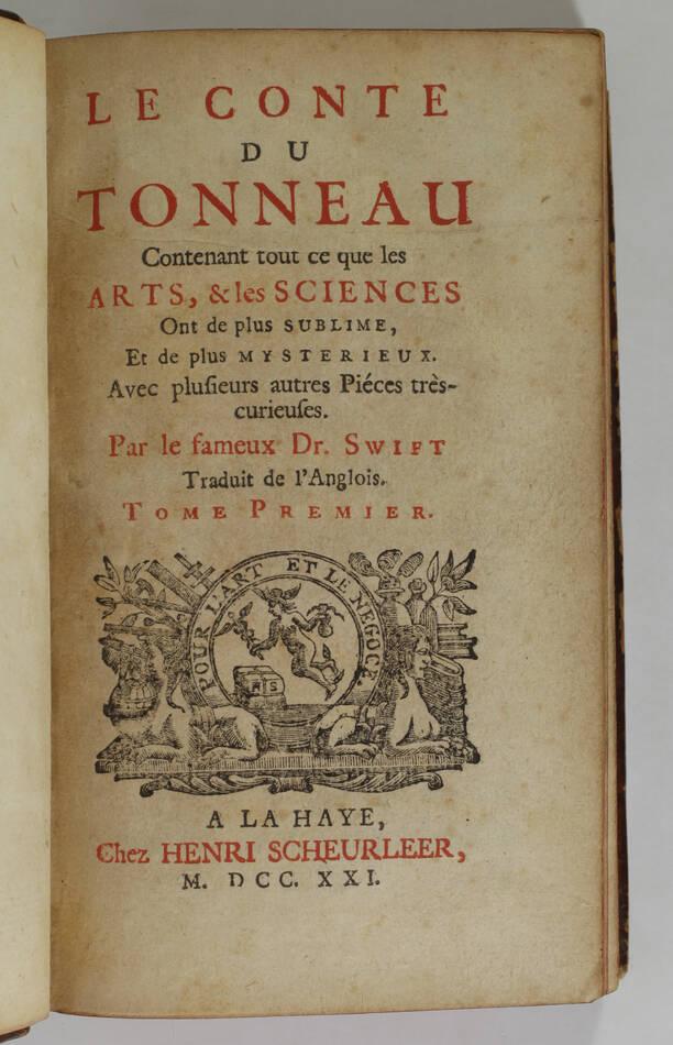 SWIFT - Le conte du tonneau - 1721 - EO de la première traduction française - Photo 1, livre ancien du XVIIIe siècle