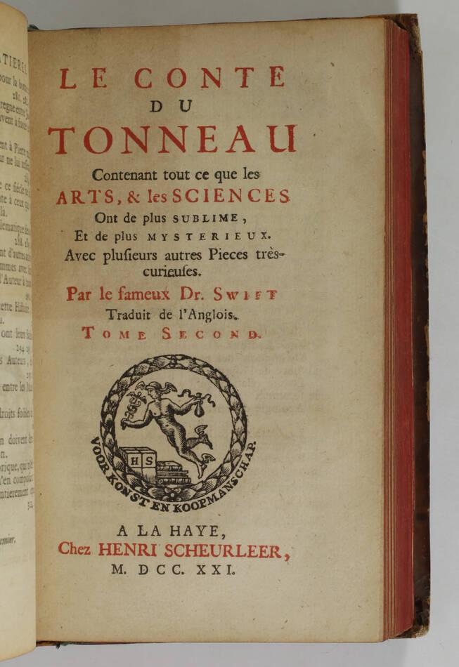 SWIFT - Le conte du tonneau - 1721 - EO de la première traduction française - Photo 2, livre ancien du XVIIIe siècle