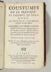 MOLIN - Coustumes de la prevosté et vicomté de Paris - 1678 - Photo 2, livre ancien du XVIIe siècle