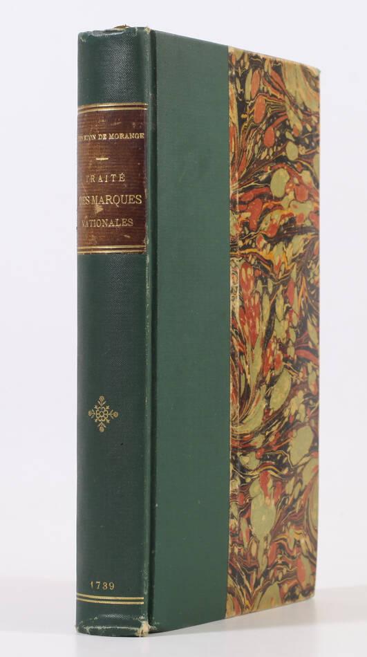 Traité des marques nationales - 1739 - Armoiries, habits et livrées - Photo 1, livre ancien du XVIIIe siècle
