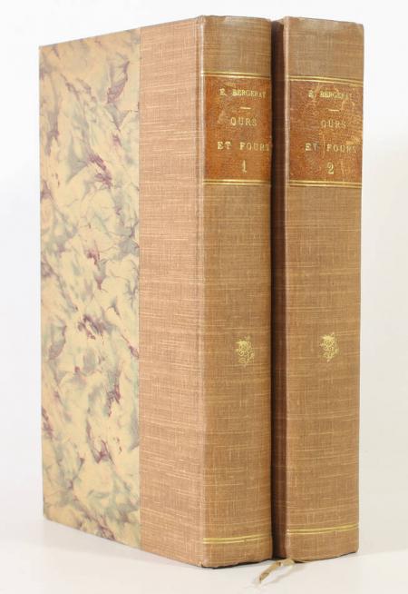 BERGERAT (Emile). Ours et fours. Théâtre en chambre. Préfaces et études dramatiques, livre rare du XIXe siècle