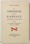 WARRAIN (Francis). La théodicée de la Kabbale (Les séphiroths - Les noms divins), suivie de la Nature éternelle d'après Jacob Boehme