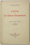 BALZAC (Honoré de). Sténie ou les erreurs philosophiques. Texte inédit établi par A. Prioult