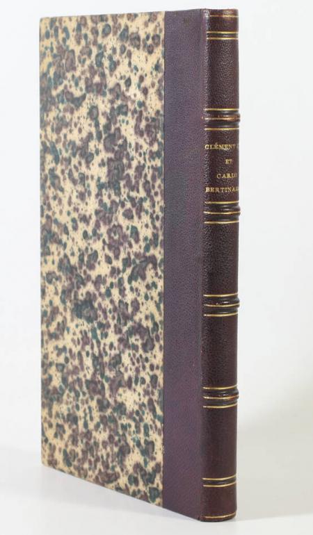 LATOUCHE (Henri de). Clément XIV et Carlo Bertinazzi, livre rare du XIXe siècle