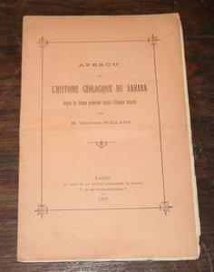 Georges Rolland - Histoire géologique du Sahara - 1891 - Photo 0 - livre rare
